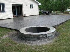 Interesting Concrete Patio Designs Layouts Colors Design Idea Home Landscaping Related On Impressive Ideas