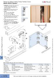 fittings for sliding folding timber partition doors häfele sf50 system t c h tch 2 0 1 3 2016 h ä f e l e häfele l t d ltd 2 0 1 3 2016 i o n a l ional