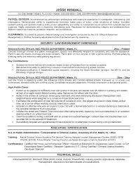 Security Officer Resume Samples Police Resume Sample
