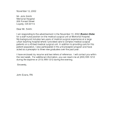 Graduate Cover Letter Examples New Graduate Rn Cover Letter Sample Cover Letter Examples For Nurse