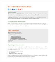 How To Write Sample Meeting Minutes – 12+ Free Online Tutorials ...
