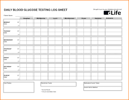 Blood Sugar Monitoring Log Blood Sugar Spreadsheet Log Printable Sheets Pdf Sheet Glucose