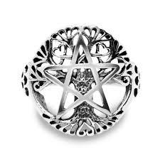 Sterling Silver Filigree Pentagram Pentacle Star Ancient Tree of ...