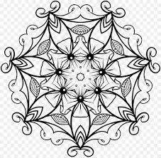 Libro Da Colorare Mandala Disegno Fiore Clip Art Fiore Scaricare
