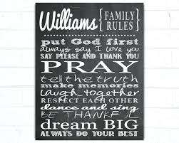 wall ideas personalized family wall art personalised family tree intended for family rules canvas