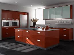 Red Gloss Kitchen Cabinets Contemporary Bishop Cabinets