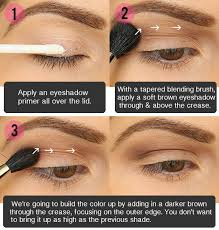 you will need a matte light brown eyeshadow a dark brown eyeshadow a shimmery brown eyeshadow a gold eyeshadow a light matte eyeshadow for the highlight a
