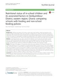 pdf nutrition intakes and nutritional status of age children in ghana