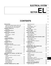 2001 nissan pathfinder electrical system section el pdf 2001 nissan pathfinder electrical system section el 394 pages