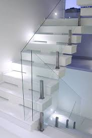 glass stair railing also gives the impression obscures your stair railing up the stairs looks very minimalist especially to deal with the cramped space