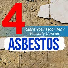 4 signs your floor may possibly contain asbestos