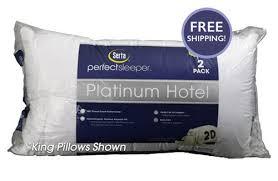Tempurpedic Pillow Selector Chart Perfect Sleeper Platinum Hotel Pillows 2 Pack