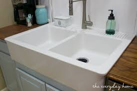 IKEAFarmhouseSink The Everyday Home Wwwevevrydayhomeblogcom  Ikea Apron Front Sink E91