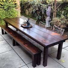 rustic outdoor furniture with modern concept worth to have traba long table decorations 11