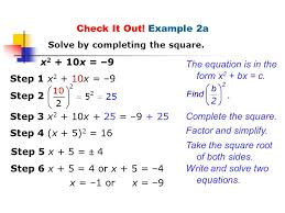 the equation is in the form x2 bx c