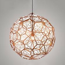 etched pendant light copper 15 7 inch