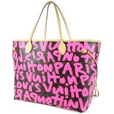 louis vuitton graffiti. louis vuitton pink graffiti neverfull gm stephen sprouse 1
