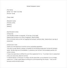 Free Letter Of Resignation Template Word Resign Letter Resignation Template Sample Simple Format Malaysia