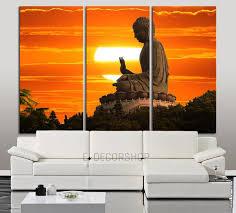 large wall art canvas buddha statue at sunset print 3 panel wall can extra large wall art canvas print on sunset wall art canvas with large wall art canvas buddha statue at sunset print 3 panel wall
