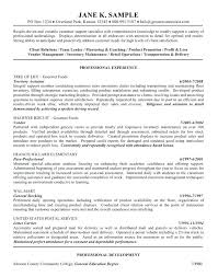 General Resume Examples Best Sample Of Objective In Resume In General Resume Examples Goal Resume
