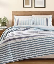 blue striped bedding sets beachfront