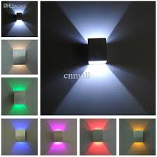 aluminum wall light colorful indoor light led wall lamp 3w red green yellow purple blue cool warm white led light aisle stair sconce 85 265v