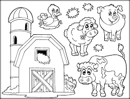 Farm Animal Coloring Pages Free Download Xsibe Cute Inside Animals