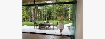 frameless glass doors nuline frameless bifolding doors