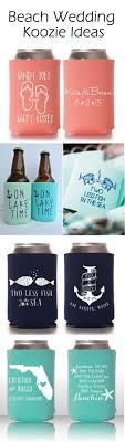 Beach Koozie Designs Cool Summer Wedding Ideas With Personalized Koozie Favors