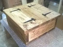 square storage coffee table chest