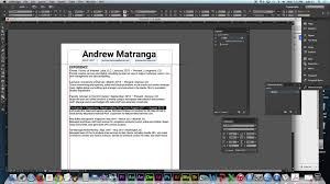 How To Design A Resume Using Adobe Indesign Cc 2014 Youtube