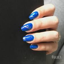 青 ネイル 夏 セルフ
