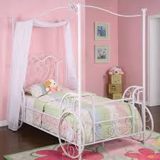 Innovative White Twin Canopy Bed with Zoomie Kids Arlo Vintage ...
