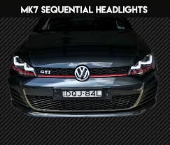 Mk7 Lighting Package Vw Golf Mk7 Sequential Projector Headlights Fits Halogen Headlight Models