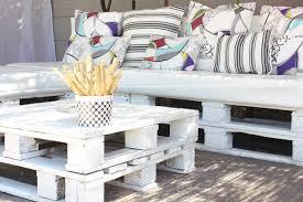 creative furniture ideas. Pallet Furniture Ideas Creative White Table Decorative Colorful Pillows