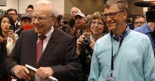 warren buffett bill gates have similar ideas on how much money to warren buffett and bill gates prepare to do the newspaper toss at the berkshire