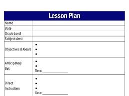 Single Subject Lesson Plan Template One Day Lesson Plan Template Blank Rome Fontanacountryinn Com