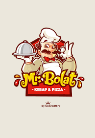Character Logo Designer Mr Bolat Cartoon Logo Restaurant Logo Design Food Logo