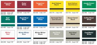 Rowmark Ada Alternative Color Chart
