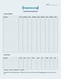Weight Training Record Sheet Printable Blank Exercise Log Sheet Download Them Or Print