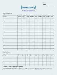 Printable Blank Exercise Log Sheet Download Them Or Print