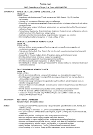 Oracle Database Administrator Resume Samples Velvet Jobs