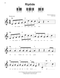 Riptide Strumming Pattern Unique Riptide Sheet Music By Vance Joy Super Easy Piano 48