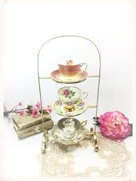 Teacup Display Stand English Gold 100 Tier Gold Tea Cup Display Stand Teacup Holder 11