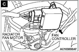 mitsubishi outlander wiring diagram fixya how do i install a 2003 mitsubishi outlander cooling fan control module relay installation or is there a diagram for wiring i have the part just need a