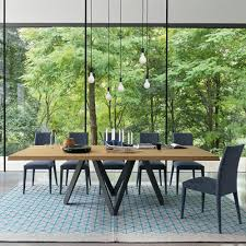 Moderner Esstisch Holz Glas Metall Cartesio By Busetti
