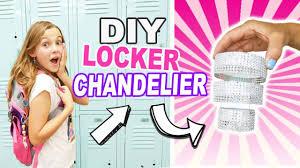 diy mini locker chandelier easy back to school crafts for kids locker decor