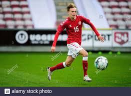 Aalborg, Denmark. 04th Sep, 2020. Mikkel Damsgaard (15) of Denmark seen  during the U21 qualifier match between Denmark and Ukraine at Aalborg  Portland Park in Aalborg. (Photo Credit: Gonzales Photo/Alamy Live News