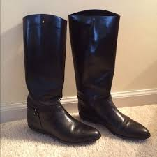 etienne aigner black leather riding boots adorable black leather riding boots a few small unnoticeable marks around toe will most likely disappear with