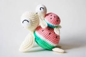 Free Crochet Turtle Pattern Impressive Watermelon Turtles Amigurumi Patterns Amigurumi Today
